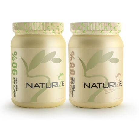 1db FAHÉJAS + 1db NATÚR Naturize ULTRA SILK 2.0 barnarizs-fehérjepor - 990 Ft megtakarítás!
