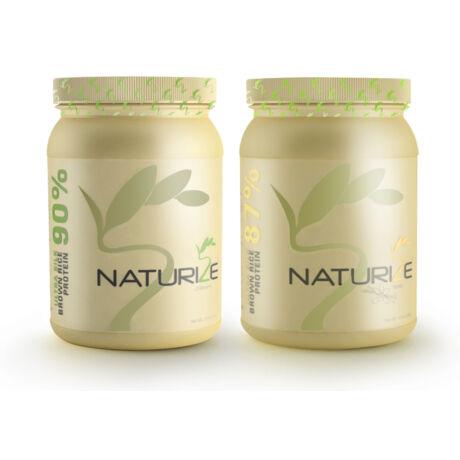 1db VANÍLIÁS + 1db NATÚR Naturize ULTRA SILK 2.0 barnarizs-fehérjepor - 990 Ft megtakarítás!