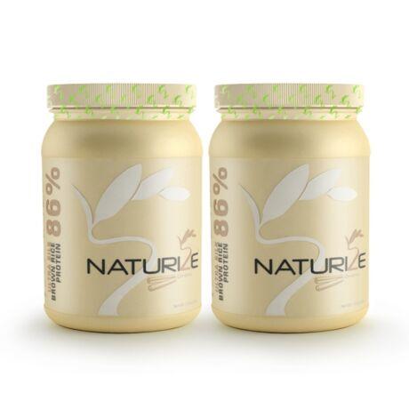2db (52 adag) FAHÉJAS Naturize ULTRA SILK 2.0 (86%) barnarizs-fehérjepor, 990 Ft megtakarítás!