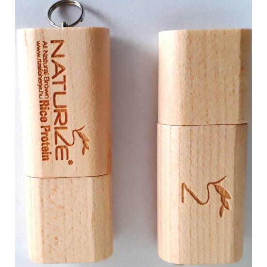 Eredeti Naturize USB drive (8Gb) - valódi fából, lézergravírozással