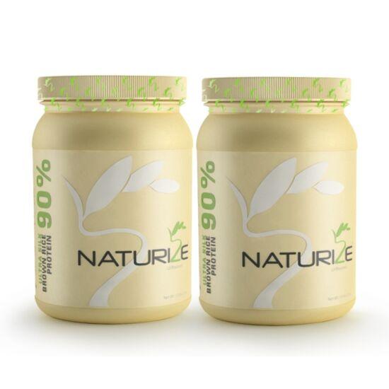 2 db (1632g) NATÚR Naturize ULTRA SILK 90% barnarizs-fehérjepor, 990 Ft megtakarítás!
